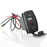 Недорогие Выключатели-Iztoss rocker style car usb charger 3,5 мм aux - с синим светодиодным светом 2,1a разъем для подключения к автомобильной лодочке