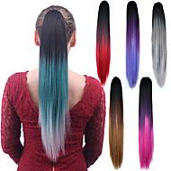 Длинные прямые волосы цвета смешивания ponytail женщин синтетические дешевые косплей волос партии косплея
