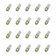 hesapli -20pcs t10 5 * 5050 smd led araba ampulü beyaz ışık dc12v