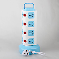 Power strip met multifunctionele voetencode 2 usb voedingslader 220v 10a