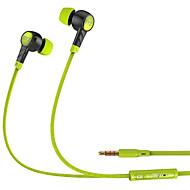 Byz k61 mobil øretelefon for datamaskin i-øret kabel tpe 3,5 mm med mikrofon støy-avbrudd