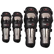 Pro-Biker 4pcs / set Edelstahl Motorrad atv Knie&Ellenbogenpolster Schutzausrüstung Motorrad Offroad-Rennsport Wächter
