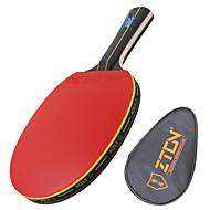 Ping Pang/Stolni tenis reketi Ping Pang Drvo Duga ručka Prištići 1 Reket 1 Torba za stolnotenisku opremu-ZTON