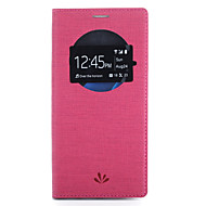 Кейс для Назначение SSamsung Galaxy S7 edge S7 Бумажник для карт со стендом с окошком Чехол Сплошной цвет Твердый Искусственная кожа для