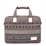 "Canvas Bohemian Style Mixed Color Handbags Shoulder Bag 15"" Laptop"