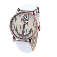 baratos -Mulheres Homens Unisexo Relógio de Moda Quartzo Tecido Banda Casual Branco Marrom