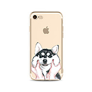 abordables Ofertas de Hoy-Funda Para Apple iPhone X / iPhone 8 Plus Transparente / Diseños Funda Trasera Perro Suave TPU para iPhone X / iPhone 8 Plus / iPhone 8