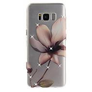 Недорогие Чехлы и кейсы для Galaxy S7-Кейс для Назначение SSamsung Galaxy S8 Plus S8 Стразы IMD Прозрачный Задняя крышка Цветы Мягкий TPU для S8 S8 Plus S7 edge S7