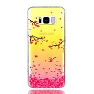 Для Чехлы панели Стразы IMD Полупрозрачный С узором Задняя крышка Кейс для дерево Цветы Твердый PC для Samsung S8 S8 Plus S7 edge S7
