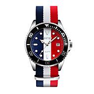 Недорогие Фирменные часы-SKMEI Муж. Модные часы Наручные часы Японский Кварцевый 30 m Защита от влаги Календарь Cool Материал Группа Аналоговый Разноцветный - Красный Синий Розовый