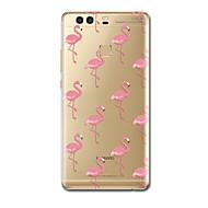 Mert tokok Ultra-vékeny Minta Hátlap Case Flamingó Puha TPU mert HuaweiHuawei P10 Plus Huawei P10 Huawei P9 Huawei P9 Lite Huawei P9 Plus