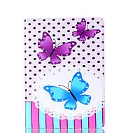 Для samsung galaxy tab a 9.7 a 7.0 e 9.6 крышка случая бабочка карточка стент pu материал плоский защитный кожух