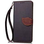 preiswerte Handyhüllen-Hülle Für Wiko RAINBOW Wiko Kreditkartenfächer Geldbeutel mit Halterung Flipbare Hülle Ganzkörper-Gehäuse Volltonfarbe Hart PU-Leder für