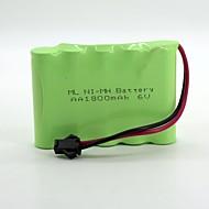 Ni-Mh  Battery Aa 1800Mah 6V High Quality  Sm Head (Green Color)