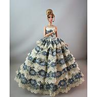 저렴한 -파티 / 이브닝 드레스 에 대한 Barbiedoll 레이스 / 공단 드레스 에 대한 여자의 인형 장난감