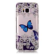 Для samsung galaxy s8 plus s8 tpu материал imd процесс синий рисунок бабочки phone case s7 edge s7 s6 edge s6 s5
