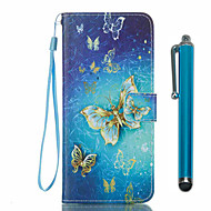 お買い得  -ケース 用途 Samsung Galaxy S8 Plus S8 カードホルダー ウォレット スタンド付き フリップ パターン フルボディーケース バタフライ ハード PUレザー のために S8 Plus S8