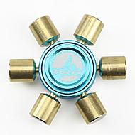 Fidget spinner -stressilelu hand Spinner Lelut kuusi Spinner Metalli Messinki EDCStressiä ja ahdistusta Relief Office Desk Lelut