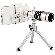 abordables Fotografía con Smartphone-Lente de la cámara del teléfono del kit de la lente del teleobjetivo del telescopio óptico del zumbido de la alta calidad 18x con el