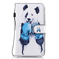 Недорогие Чехлы и кейсы для Galaxy А-Кейс для Назначение SSamsung Galaxy A5(2017) A3(2017) Бумажник для карт Кошелек со стендом Флип Магнитный С узором Чехол Животное Твердый