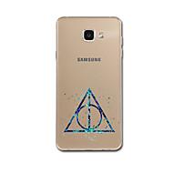 Кейс для Назначение SSamsung Galaxy A5(2017) A3(2017) Ультратонкий С узором Задняя крышка Геометрический рисунок Мягкий TPU для A3 (2017)