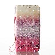 Недорогие Чехлы и кейсы для Galaxy S8 Plus-Кейс для Назначение SSamsung Galaxy S8 Plus S8 Бумажник для карт Кошелек со стендом Флип С узором Чехол Градиент цвета Твердый Кожа PU для