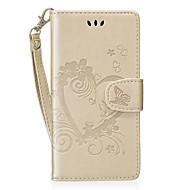Недорогие Чехлы и кейсы для Huawei Honor-Кейс для Назначение Huawei Бумажник для карт Кошелек со стендом Флип С узором Чехол С сердцем Твердый Кожа PU для P8 Lite (2017) Honor 8