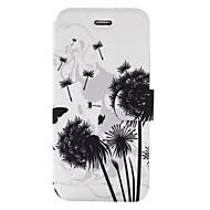 Недорогие Чехлы и кейсы для Galaxy S7-Кейс для Назначение SSamsung Galaxy S8 Plus S8 Бумажник для карт со стендом Флип С узором Чехол одуванчик Твердый Кожа PU для S8 Plus S8