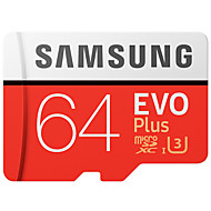 billiga Märkesshowroom-Samsung 64gb micro sd kort tf kort minneskort uhs-i u3 class10 evo plus 100mb / s