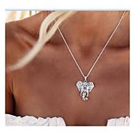 Mulheres Colares com Pendentes Elefante Animal Personalizada Vintage Fashion Euramerican Prata Colar Jóias Para Diário Casual