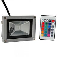 お買い得  -HKV 10W LEDフラッドライト 調整可 取り付けやすい 防水 屋外照明 ガレージ/車庫 物置/倉庫 RGB AC85-265V