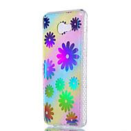 Назначение Чехлы панели Защита от удара Покрытие Полупрозрачный С узором Задняя крышка Кейс для Цветы Мягкий Термопластик для SamsungJ7