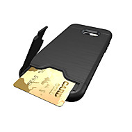 Недорогие Чехлы и кейсы для Galaxy A7(2017)-Кейс для Назначение SSamsung Galaxy A5(2017) A3(2017) Бумажник для карт Защита от удара Кейс на заднюю панель Сплошной цвет Твердый ПК для