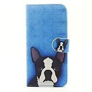 Недорогие Чехлы и кейсы для Galaxy A5(2016)-Кейс для Назначение SSamsung Galaxy A5(2017) A3(2017) Бумажник для карт Кошелек со стендом Флип Чехол С собакой Твердый Кожа PU для A3