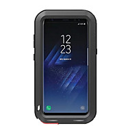 Недорогие Чехлы и кейсы для Galaxy S8 Plus-Кейс для Назначение SSamsung Galaxy S8 Plus S8 Защита от влаги Защита от удара Чехол Сплошной цвет Твердый Металл для S8 Plus S8