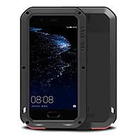 お買い得  携帯電話ケース-ケース 用途 Huawei 耐水 耐衝撃 フルボディーケース 純色 ハード メタル のために P10 Plus P10 Huawei
