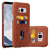 fodral Till Samsung Galaxy S8 Plus S8 Korthållare Skal Ensfärgat Hårt Konstläder för S8 S8 Plus