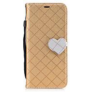Недорогие Чехлы и кейсы для Galaxy S8 Plus-Кейс для Назначение SSamsung Galaxy S8 Plus S8 Кошелек Бумажник для карт со стендом Флип С узором Магнитный Чехол Сплошной цвет С сердцем