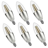 5W E14 LED Candle Lights C35 35 leds SMD 3528 Decorative Warm White White 500lm 3000 6000K AC 220-240 AC 110-130V