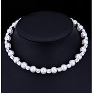 Dame Choker Halskjede Perle Kubisk Zirkonium Imitert Perle Kubisk Zirkonium Enkelt design Hvit Smykker TilBryllup Spesiell Leilighet