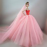저렴한 -결혼식 드레스 에 대한 바비 인형 에 대한 여자의 인형 장난감