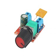 DC Motor Speed Control Driver Board 3V-35V 5A PWM Controller Stepless Voltage Regulator Dimmer Governor Switching Build with LED Indicator and Switch
