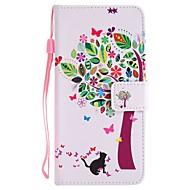 tok Για Samsung Galaxy J7 Prime J5 Prime Πορτοφόλι Θήκη καρτών με βάση στήριξης Ανοιγόμενη Με σχέδια Πλήρης κάλυψη Δέντρο Σκληρή PU Δέρμα