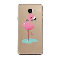 Недорогие Чехлы и кейсы для Galaxy A8-Кейс для Назначение SSamsung Galaxy A5(2017) A3(2017) Прозрачный С узором Кейс на заднюю панель Фламинго Мягкий ТПУ для A3 (2017) A5