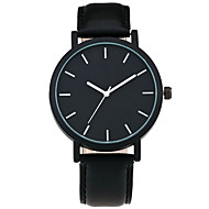 cheap Watch Deals-Cool Style Men Wristwatch Brief Vogue Simple Stylish Black and white Face Leather Quartz Clock Fashion Watch