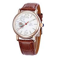 Dames Modieus horloge mechanische horloges Kwarts Leer Band Zwart Bruin Roze