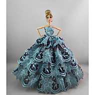 Evening/ Party Dresses in Water Blue For Barbie Doll For Girl's Doll Toy