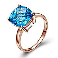 お買い得  -女性用 合成ダイヤモンド 指輪  -  ローズゴールド, キュービックジルコニア, 銀メッキ ファッション 5 / 6 / 7 ブルー / ライトブラウン 用途 誕生日 / おめでとう / 贈り物