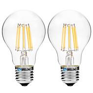 8W LED-hehkulamput A60(A19) 8 COB 600 lm Lämmin valkoinen Valkoinen V 2 kpl