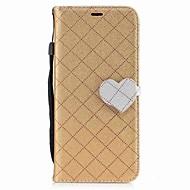 Недорогие Чехлы и кейсы для Galaxy S7 Edge-Кейс для Назначение SSamsung Galaxy S8 Plus S8 Кошелек Бумажник для карт со стендом Флип Магнитный Чехол С сердцем Твердый Искусственная